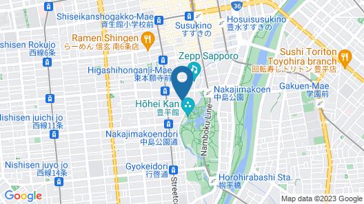 Premier Hotel Nakajima Park Sapporo Map