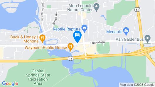 AmericInn by Wyndham Madison South Map