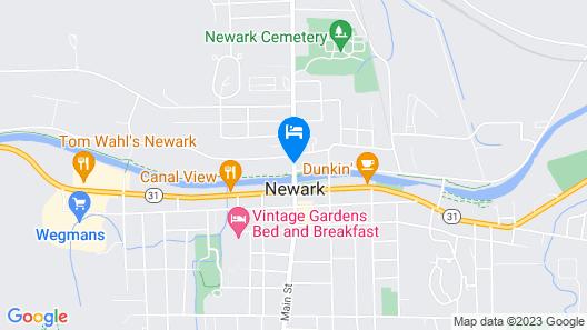 Newark Garden Finger Lakes Hotel Map