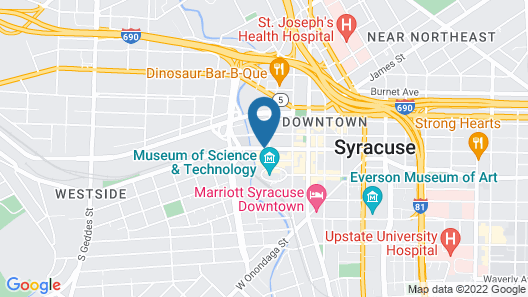 Courtyard Syracuse Downtown At Armory Square Map