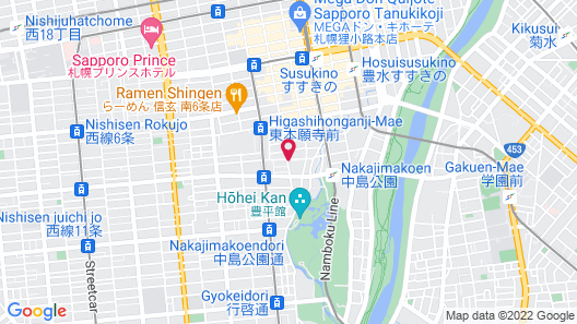 Sapporo Excel Hotel Tokyu Map