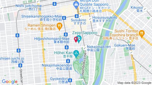 UNWIND HOTEL & BAR SAPPORO Map