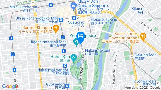 Vessel Inn Sapporo Nakajima Park Map
