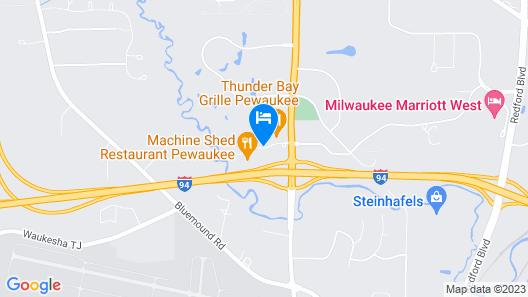 Holiday Inn Pewaukee - Milwaukee West, an IHG Hotel Map