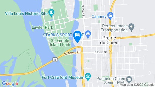 Waterfront Hotel Map