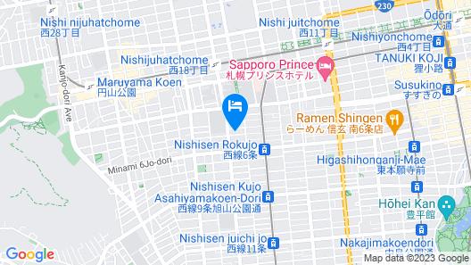 Vessel Hotel Campana Susukino Map