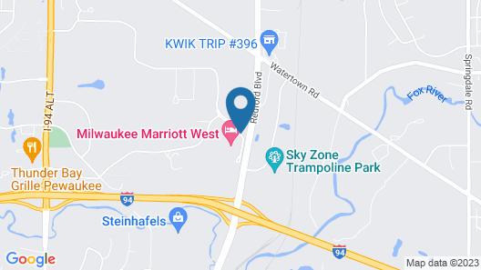 Marriott Milwaukee West Map