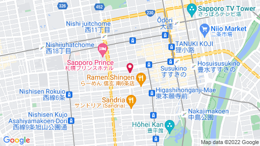 The STAY SAPPORO - Hostel Map