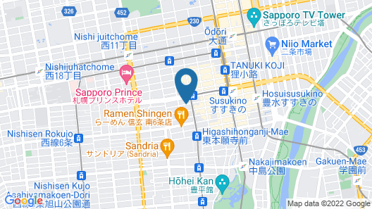 Frame Hotel Sapporo Map