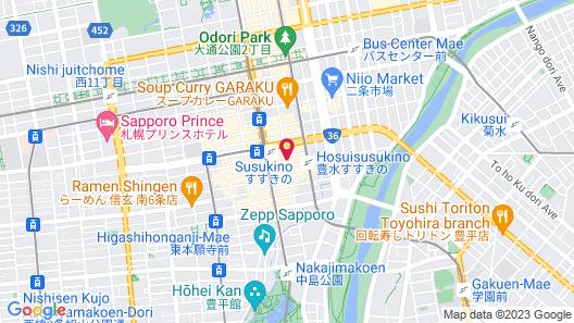 Holiday Inn Ana Sapporo Susukino Map