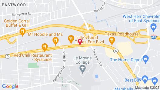 Hampton Inn & Suites by Hilton Syracuse Dewitt Map