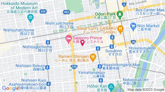 Hotel Raffinato Sapporo Map