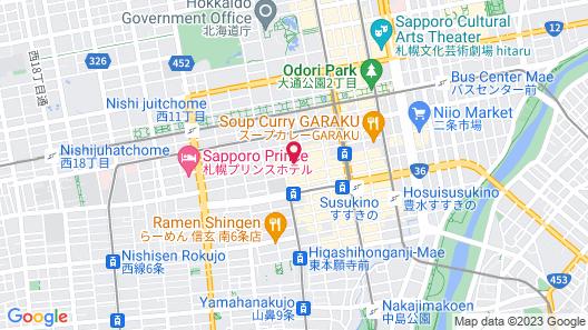 Dormy Inn Sapporo Annex Hot Spring Map