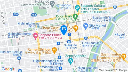 GRIDS SAPPORO - Hostel Map