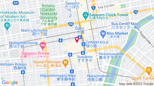 La'gent Stay Sapporo Oodori Hokkaido Map