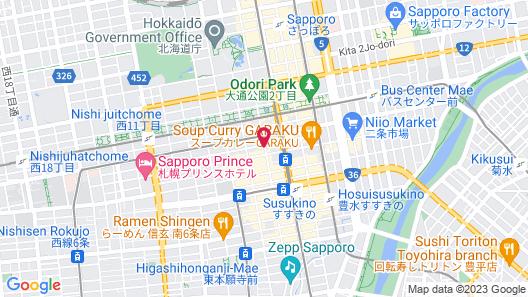 TOKYU STAY SAPPORO ODORI Map