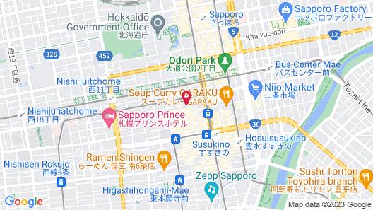 nest HOTEL sapporo odori Map