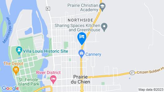 Motel 6 Prairie Du Chien, WI Map