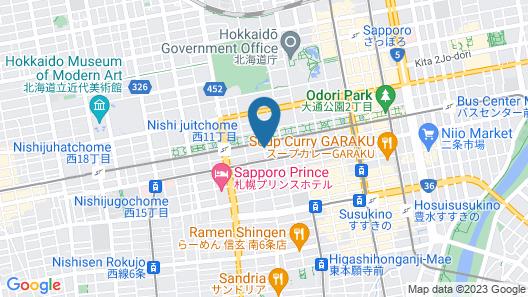 SAPPORO VIEW HOTEL OODORI KOUEN Map