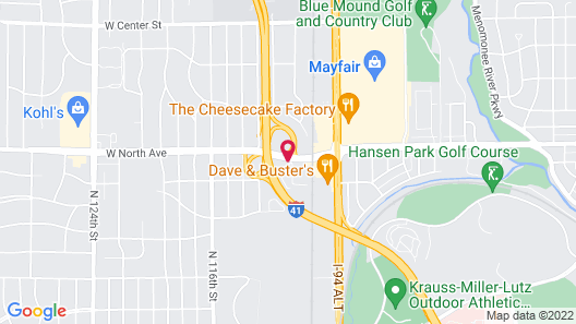 Holiday Inn Express Milwaukee-West Medical Center Map
