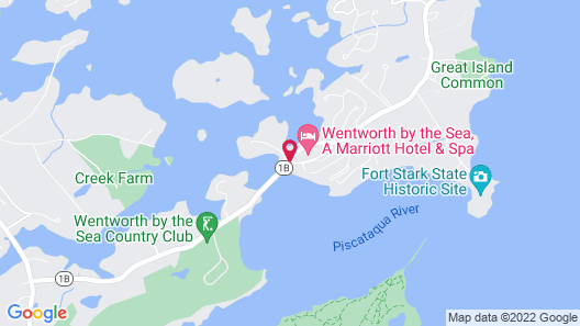 Wentworth by the Sea, A Marriott Hotel & Spa Map