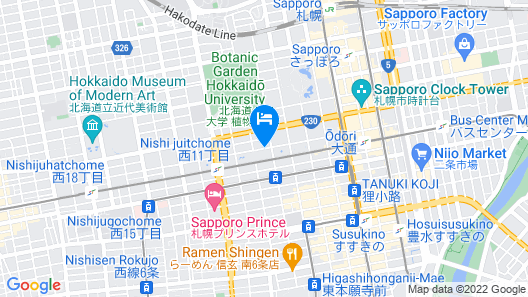 Best Western Sapporo Odori Koen Map