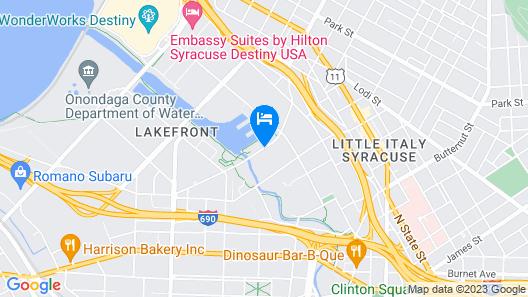 Aloft Syracuse Inner Harbor Map