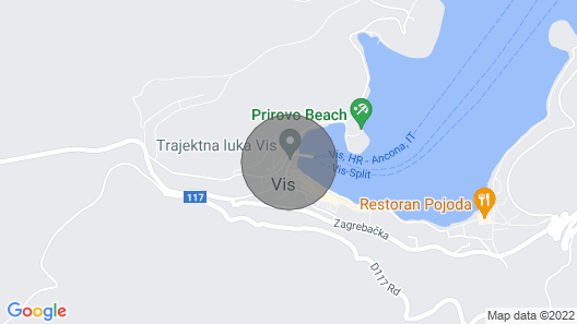 Modern apartment with seaview in the centre of Vis Map