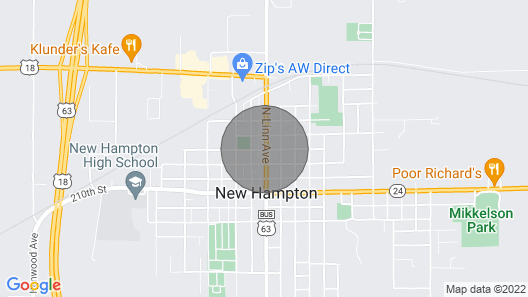 Great Place To Gather With Family And Friends In New Hampton, IA Map