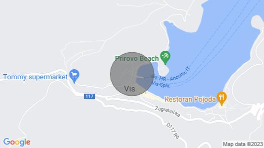 Apartment Tenara A2 - Vis, Island Vis, Croatia Map