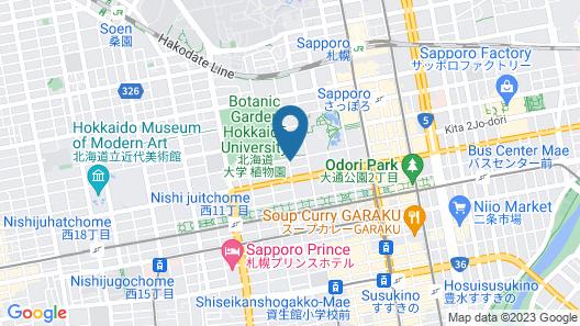 Onsen Ryokan Yuen Sapporo Map