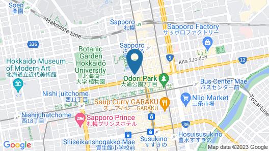Sapporo Grand Hotel Map