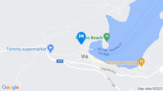 Apartment Mato  A4(2+3)  - Vis, Island Vis, Croatia Map