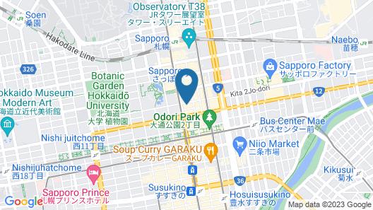 KOKO HOTEL Sapporo Ekimae Map