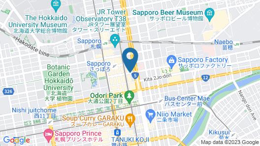 JR INN Sapporo-eki Minami-guchi Map