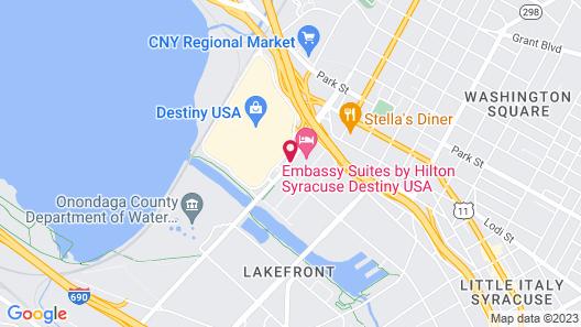 Embassy Suites by Hilton Syracuse Destiny USA Map
