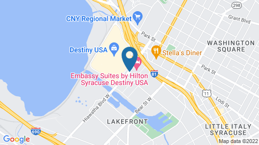 Embassy Suites by Hilton Syracuse Destiny USA Map