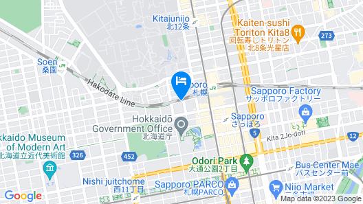 JR Inn Sapporo Map