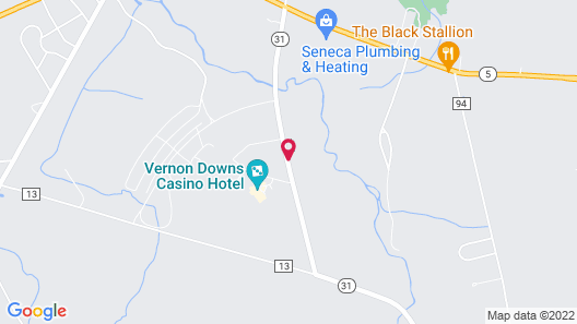 Vernon Downs Casino and Hotel Map