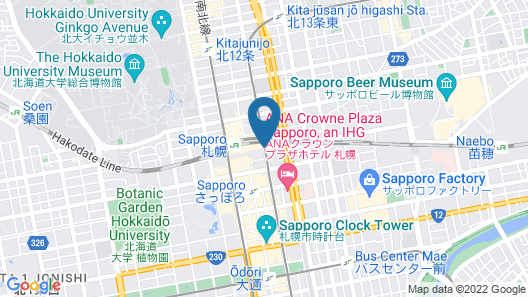 JR Tower Hotel Nikko Sapporo Map