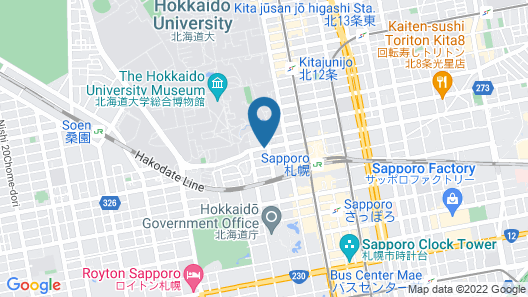 Residence Hotel Stripe Sapporo Map