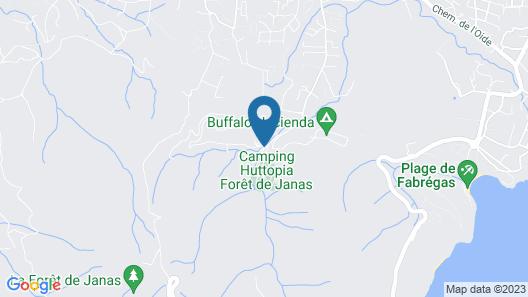 Huttopia Forêt de Janas Map