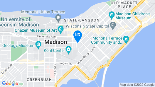 DoubleTree by Hilton Madison Downtown Map