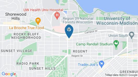 Best Western Plus InnTowner Madison Map