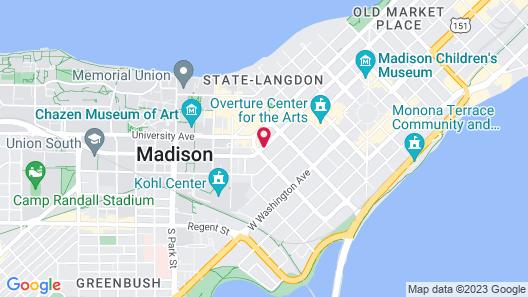 Hampton Inn & Suites Madison / Downtown Map