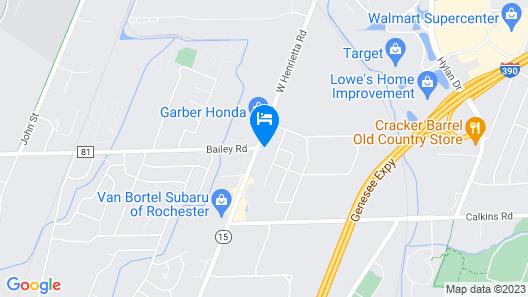 Econo Lodge Rochester I-90 & I-390 Map