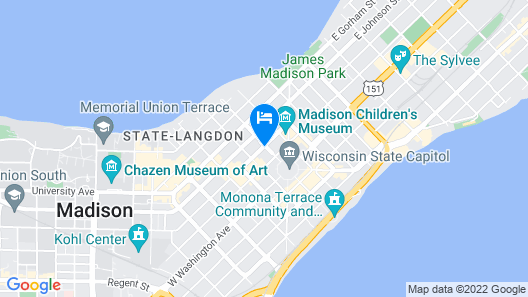 The Madison Concourse Hotel and Governor's Club Map