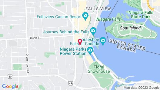 Niagara Falls Marriott on the Falls Map