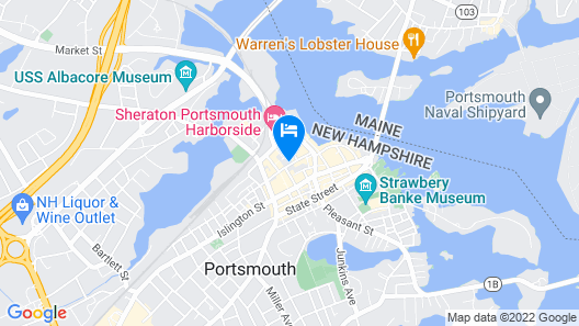 Hilton Garden Inn Portsmouth Downtown Map