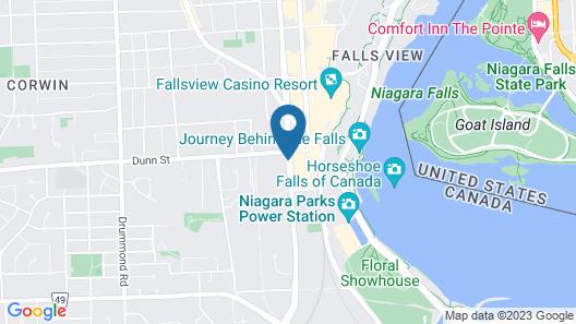 Rodeway Inn Fallsview Map